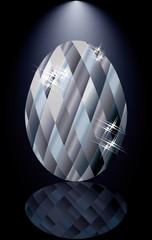 Diamonds Easter egg card, vector illustration