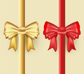 golden and red ribbons