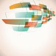 abstract futuristic background with retro colors