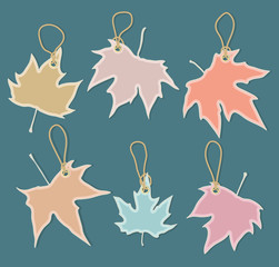 leaves as shopping design elements