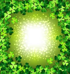 Shamrock frame for St. Patrick's day card