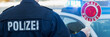 Leinwanddruck Bild - polizeistreife im einsatz