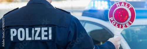 Leinwanddruck Bild polizeistreife im einsatz