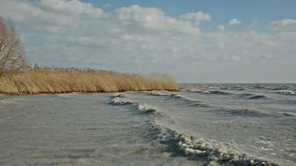 Extreme weather at Lake Balaton, Hungary