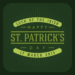 St. Patricks Day retro card design