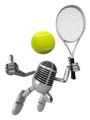 3D Classic Microphone is a powerful tennis game play exercises.
