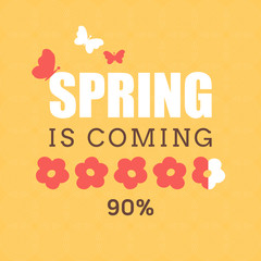 Vector illustration with template text Spring is coming