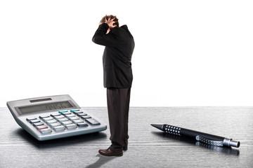 Geschäftsmann entsetzt über Verluste