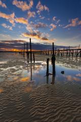 Sunset coastal scene of Poole Harbour