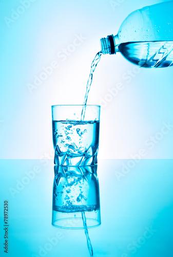 canvas print picture Wasser ist Leben