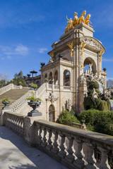 Cascading fountain in the Park Ciutadella, Barcelona