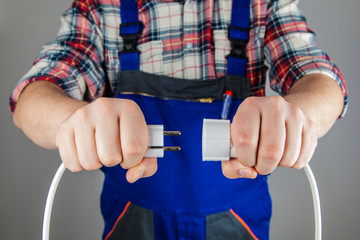 Handwerker Stromkabel