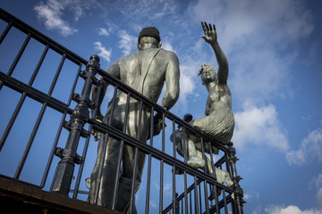 "Sculpture named ""people like us"", in Cardiff Bay"
