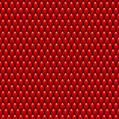 Red Dragon Scales Seamless Pattern Texture. Stock Vector