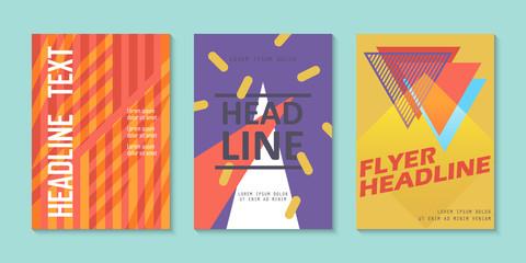 Brochure flyer layout template design