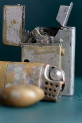 Old cigarette lighters, older than a hundred yers
