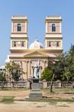 Facade of the Notre Dame de Agnes church in Pondicherry - India