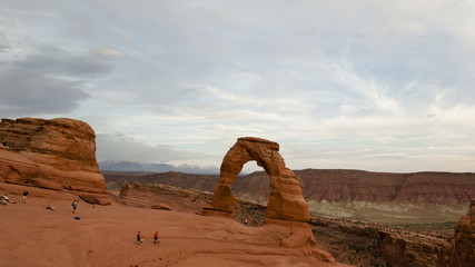 4K Time lapse Delicate Arch Utah