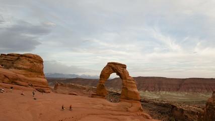 4K Time lapse Delicate Arch Utah