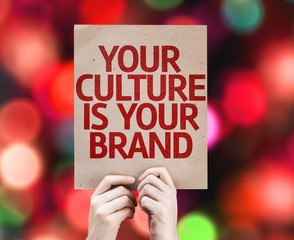 Your Culture is Your Brand card with colorful background