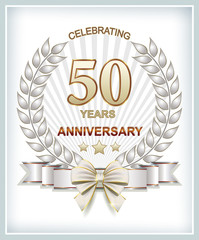 Anniversary postcard for 50 years