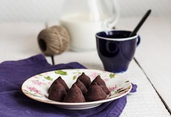 sweet candy chocolate truffles