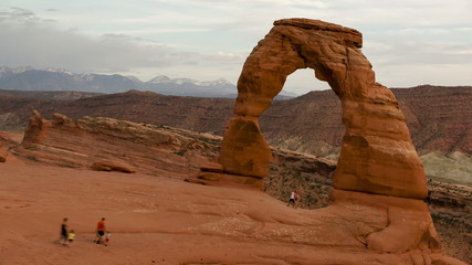 Time lapse close up Delicate Arch Utah