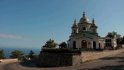 Historic church in the mountains above the sea level.