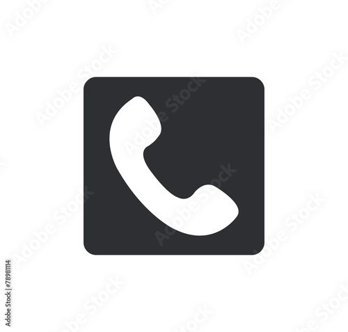 phone icon Rounded squares button, on white background - 78981114