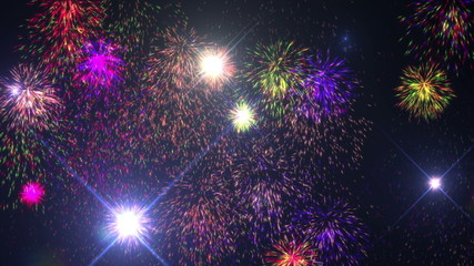 Fireworks New Years Eve 4k