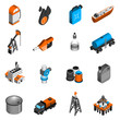 Oil Industry Isometric Icons - 78982147