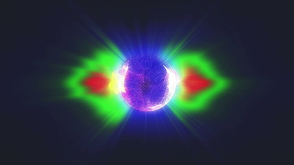 plasma ball radioactive 4k