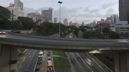 4K Time lapse Traffic Sao Paulo close up