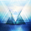Abstract triangle future vector background - 78982753