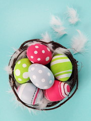Easter Eggs Bright and Colorful