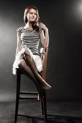 Sailor Woman in striped vest
