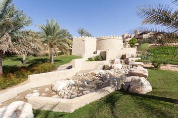 Desert oasis resort in the Emirate of Abu Dhabi, UAE