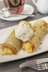 Apple cinnamon crepe
