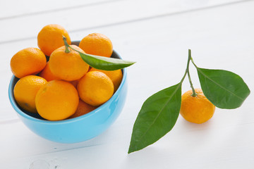 Bowl of fresh mandarins