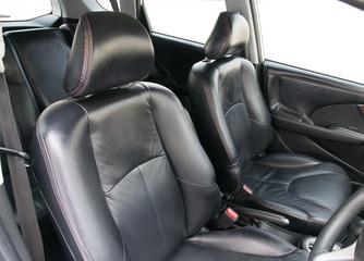 black car interior.