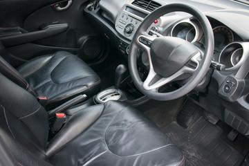 Interior of a car.
