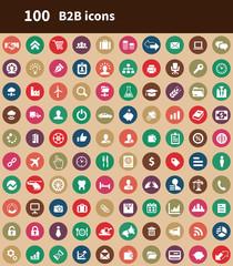 100 B2B icons