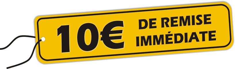 bouton 10 euro de remise immédiate