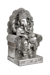 Figurine of Hindu god Ganesha with clipping path.
