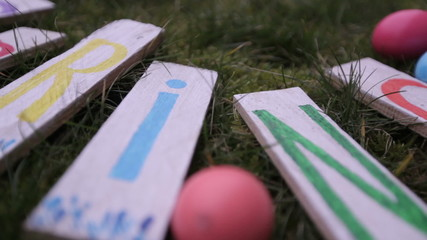 """the word """"spring"""" and Easter eggs"""