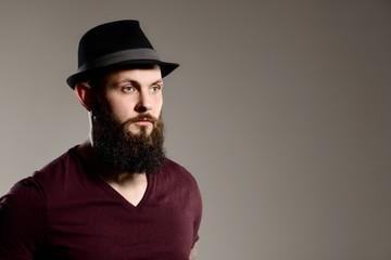 Tattooed bearded hipster guy