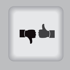 like, dislike, icon, black, vector, illustration, flat, sign