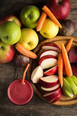 fresh beetroot apple carrot juice