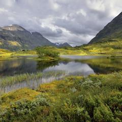Norwegia ,  góry, krajobraz wiejski