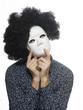 canvas print picture - maske